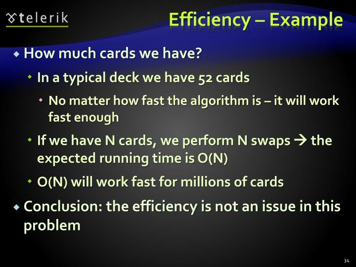 Efficiency – Example