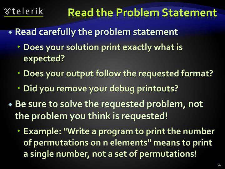 Read the Problem Statement