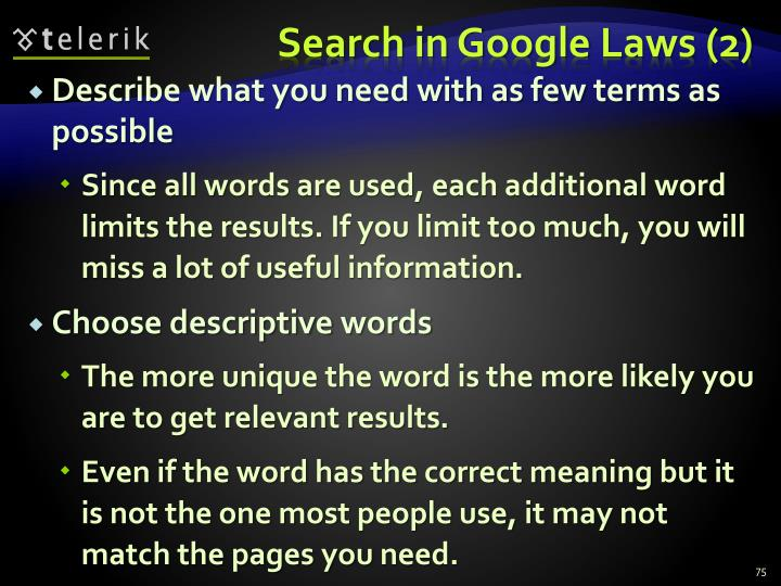 Search in Google