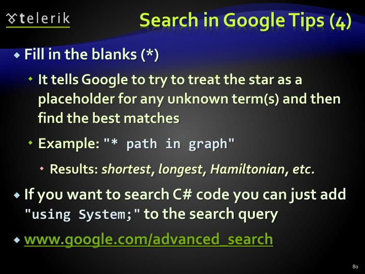 Search in Google Tips (4)