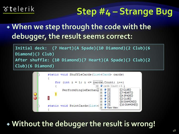 Step #4 – Strange Bug