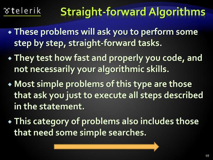Straight-forward