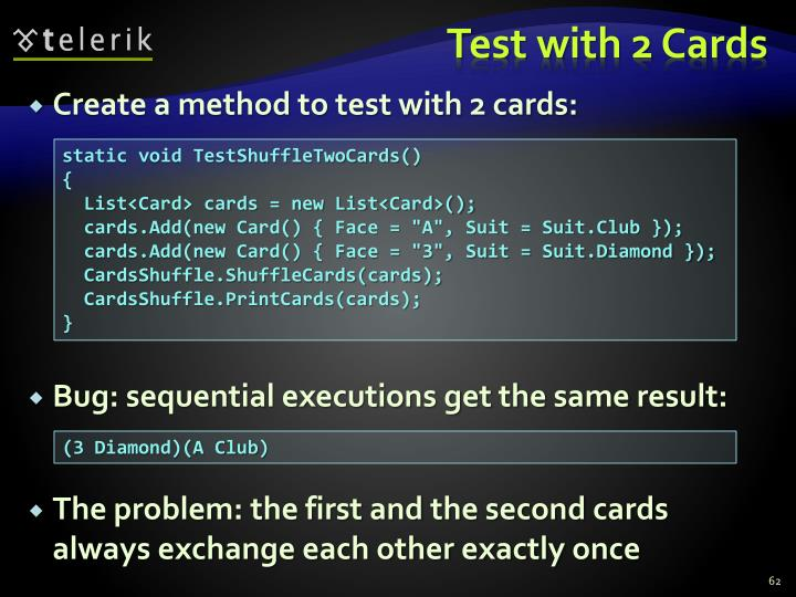 Test with 2 Cards