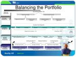 balancing the portfolio