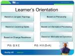 learner s orientation