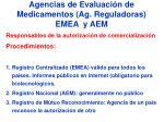 agencias de evaluaci n de medicamentos ag reguladoras emea y aem