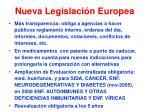 nueva legislaci n europea
