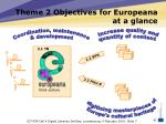 theme 2 objectives for europeana at a glance
