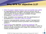 why bpn for objective 2 2