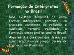 forma o de int rpretes no brasil