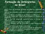 forma o de int rpretes no brasil1