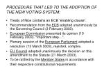 procedure that led to the adoption of the new voting system