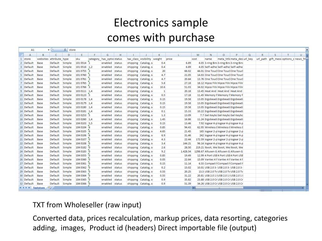 Electronics sample