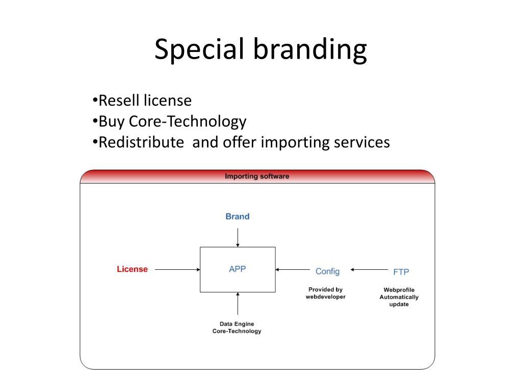 Special branding