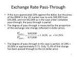 exchange rate pass through1