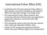 international fisher effect ife1