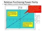 relative purchasing power parity1