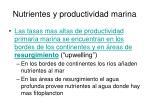 nutrientes y productividad marina