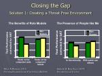 closing the gap solution 1 creating a threat free environment