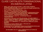 clase capitalista transnacional en america latina
