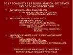 de la conquista a la globalizacion sucesivos ciclos de incorporacion