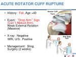 acute rotator cuff rupture