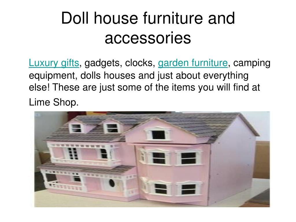 doll house furniture and accessories l.