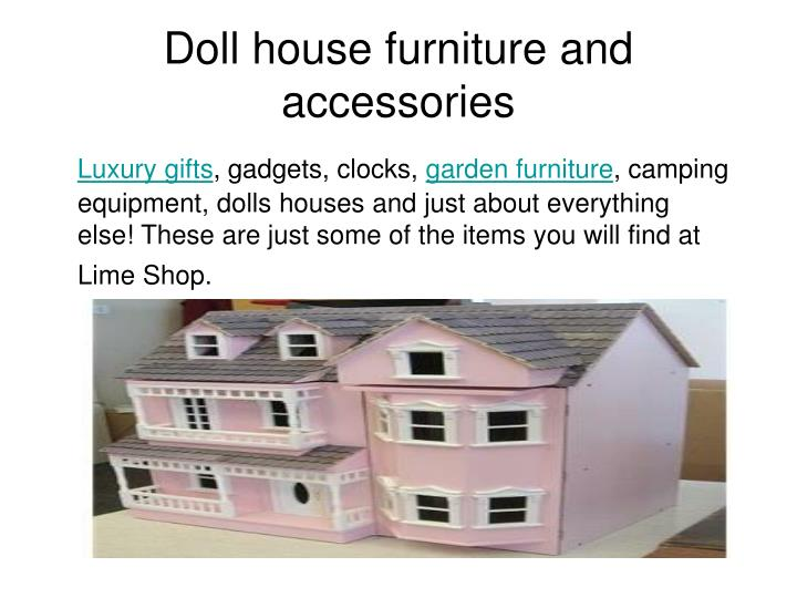doll house furniture and accessories n.