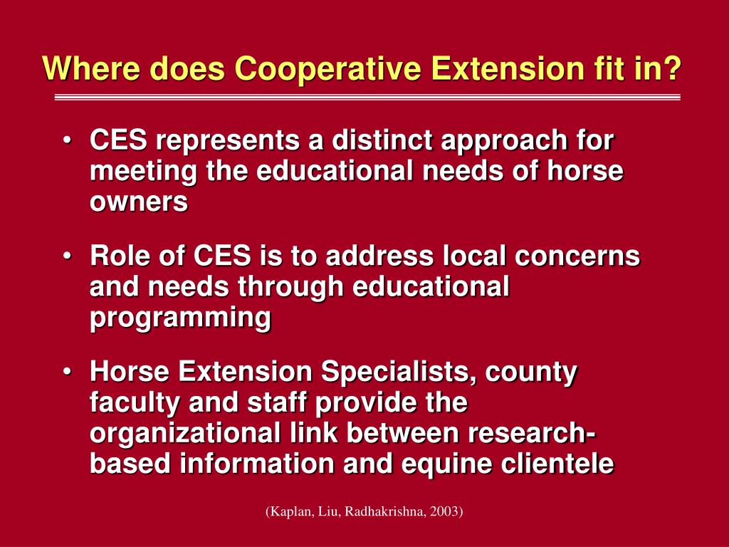 Where does Cooperative Extension fit in?