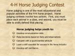 4 h horse judging contest3