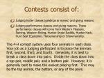 contests consist of