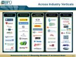 across industry verticals