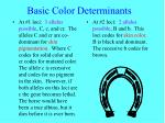 basic color determinants