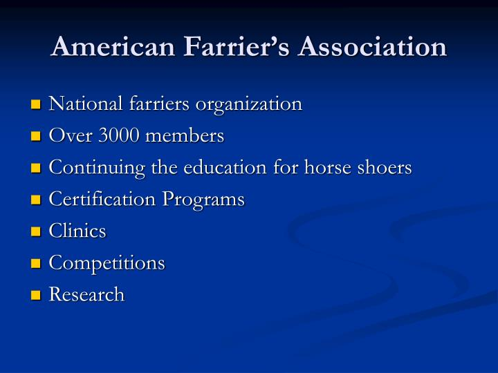 American farrier s association