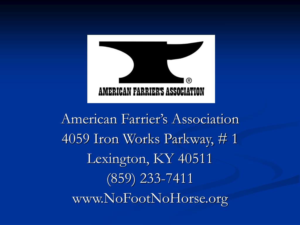 American Farrier's Association