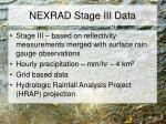 nexrad stage iii data