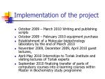 implementation of the project1