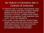 isu hukum e commerce dan e contract di indonesia