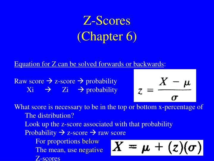 z scores chapter 6 n.