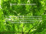 goals of meta analysis