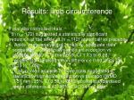 results limb circumference