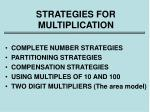 strategies for multiplication