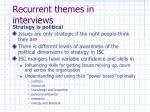 recurrent themes in interviews