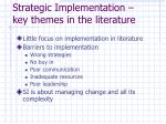 strategic implementation key themes in the literature