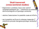 studi trasversali cross sectional studies