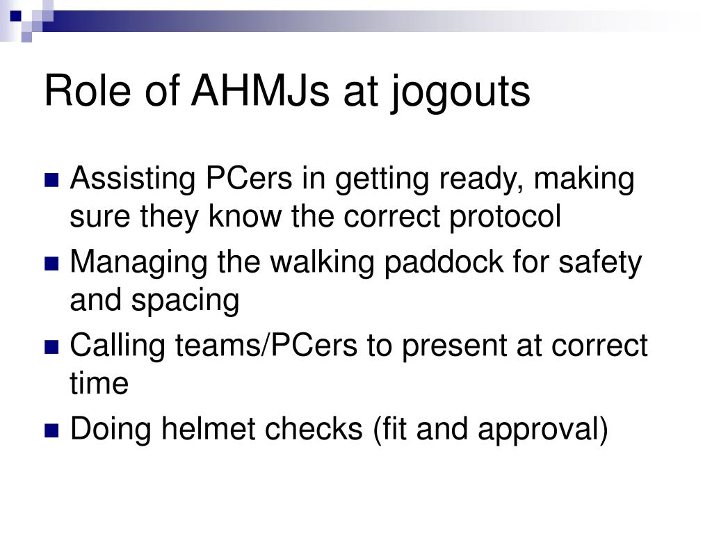 Role of AHMJs at jogouts
