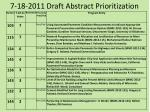 7 18 2011 draft abstract prioritization