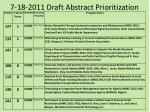7 18 2011 draft abstract prioritization1