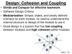 design cohesion and coupling
