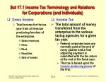 sct 17 1 income tax terminology and relations for corporations and individuals